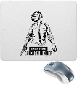 """Коврик для мышки """"PlayerUnknown's Battlegrounds"""" - игры, для геймеров, playerunknowns battlegrounds, pubg, winner winner chiken dinner"""