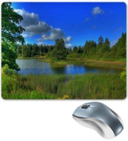 """Коврик для мышки """"Природа"""" - лес, деревья, природа, пейзаж, озеро"""