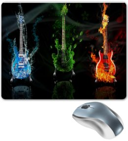 """Коврик для мышки """"Рок-гитары (Rock-Guitars)"""" - гитара, metal, rock, guitar"""