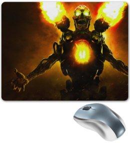 """Коврик для мышки """"Doom 4"""" - doom, шутер, дум, выживший, revenant demon"""