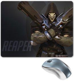 "Коврик для мышки ""Жнец "" - blizzard, близзард, overwatch, reaper, овервотч"