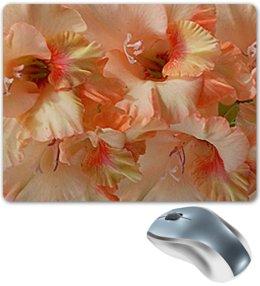 """Коврик для мышки """"Нежность."""" - цветы, нежность, гладиолус, гладиолусы, цветник"""
