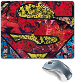 "Коврик для мышки ""Супермен (Superman)"" - комиксы, superman, dc comics, супс"