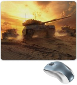 """Коврик для мышки """"World of Tanks"""" - пустыня, world of tanks, танки, мир танков, британский танк"""