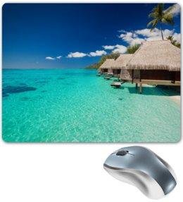 """Коврик для мышки """"Мальдивы"""" - море, природа, пейзаж, пальмы, мальдивы"""
