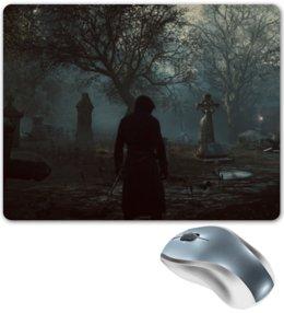 """Коврик для мышки """"Assassin's Creed"""" - assassins creed, кредо ассасина, кладбище, деревья, ассасин"""
