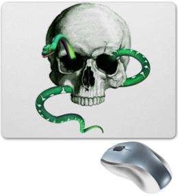 """Коврик для мышки """"  Череп и змея"""" - череп и змея"""