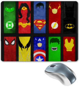 "Коврик для мышки ""Marvel & DC"" - marvel, dc, marvel & dc"