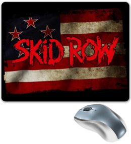 "Коврик для мышки ""Skid Row Band"" - heavy metal, рок музыка, рок группа, skid row, sebastian bach"