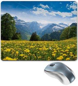 """Коврик для мышки """"""""Мощь гор"""""""" - жизнь, красота, цветы, горы, природа"""