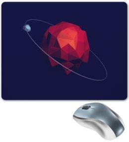 """Коврик для мышки """"PIXEL"""" - арт, планета, пиксели, полигоны"""