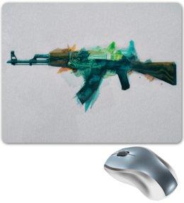 "Коврик для мышки ""AK-47 | Fire Serpent"" - ак-47, counter strike, калаш, cs go, контра"