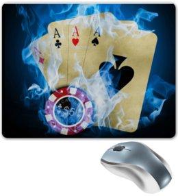"""Коврик для мышки """"покерный"""" - карты, покер, фишка"""