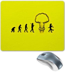 """Коврик для мышки """"Эволюция"""" - взрыв, желтый, люди, эволюция, обезьяны"""