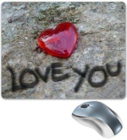 """Коврик для мышки """"I Love You"""" - сердце, любовь, арт, heart, признание в любви"""