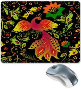 """Коврик для мышки """"Жар-птица"""" - цветы, узор, лес, ягоды, жар-птица"""