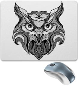 """Коврик для мышки """"Сова стилизованная"""" - рисунок, графика, сова"""