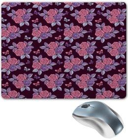 """Коврик для мышки """"Букеты роз"""" - бабочки, цветы, роза, розы, букет"""