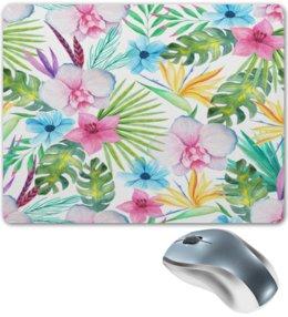 """Коврик для мышки """"Тропики"""" - цветы, лес, природа, букет, листья"""