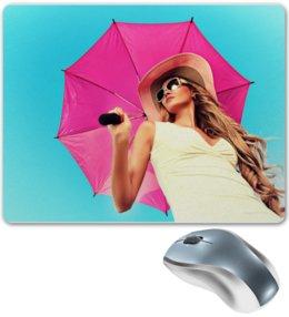 """Коврик для мышки """"Девушка с зонтом"""" - девушка, лето, зонт"""