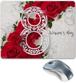 """Коврик для мышки """"8 марта"""" - цветы, 8 марта, розы"""