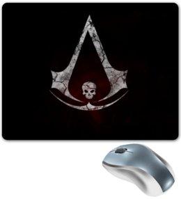 """Коврик для мышки """"Assassin's Creed"""" - череп, assassins creed, флаг, символ, ассасин"""