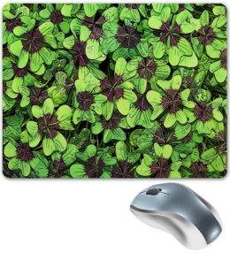 """Коврик для мышки """"Зеленые цветы"""" - цветы, весна, природа, цветочки"""