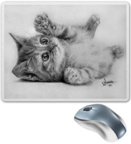"""Коврик для мышки """"Авторский коврик от VStrunin."""" - кот, кошка, арт, животные, стиль, рисунок, оригинально, коврик"""
