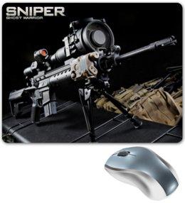 """Коврик для мышки """"Sniper"""" - sniper, снайпер, убийца, киллер, headshot"""