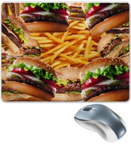"""Коврик для мышки """"Гамбургер"""" - прикольно, прикол, юмор, смешные, приколы, смешное, авторские майки, футболка, стиль, мужская"""