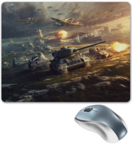 "Коврик для мышки ""World of Tanks"" - world of tanks, танки, самолёты, world of warplanes, world of warships"