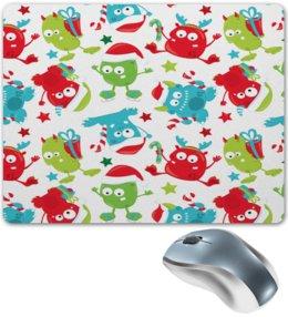"""Коврик для мышки """"Новый год"""" - конфеты, новый год, зима, подарки, монстры"""