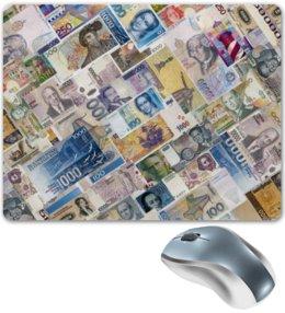 """Коврик для мышки """"Валюты мира"""" - деньги, путешествия, валюта"""