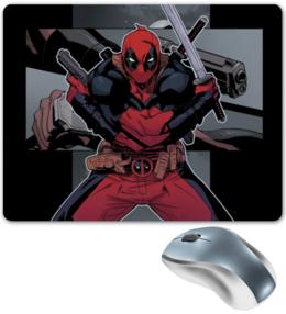 """Коврик для мышки """"Deadpool"""" - красный, герой, marvel, дэдпул"""