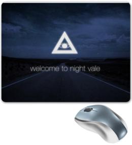 """Коврик для мышки """"Welcome!"""" - глаз, дорога, пейзаж, welcome to night vale, добро пожаловать в найт вейл, подкаст, найт вейл, пирамида, сверкающее облако"""
