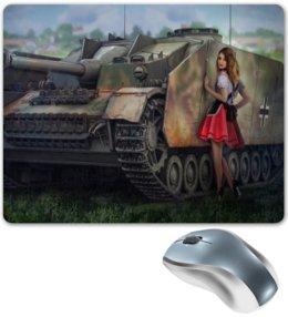 """Коврик для мышки """"танки"""" - танки, танкистам, танки и девушки"""