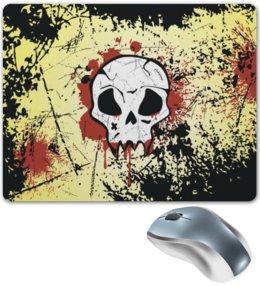 """Коврик для мышки """"Grunge Skull"""" - skull, череп, гранж, хэллоуин, хардкор"""