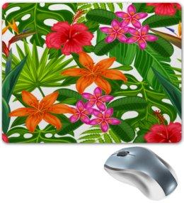 """Коврик для мышки """"Тропики"""" - лето, цветы, summer, природа, тропики"""