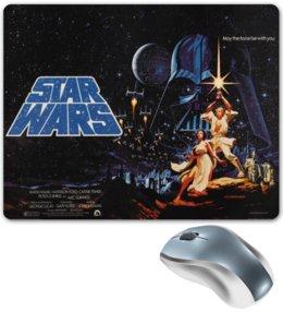 """Коврик для мышки """"star wars"""" - ретро, фантастика, star wars, звездные войны, постер"""