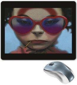 """Коврик для мышки """"Девушка в очках"""" - сердце, девушка, смешные, лицо, очки"""