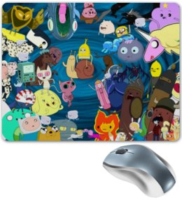 """Коврик для мышки """"Время приключений"""" - мультфильм, время приключений, мультсериал, финн и джейк"""