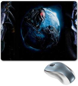 """Коврик для мышки """"Чужой против Хищника / Alien vs Predator"""" - хищник, рисунок, кино, чужой"""