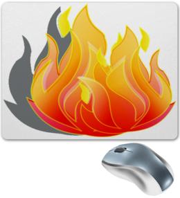 "Коврик для мышки ""Костер"" - огонь, ярко, коврик для мышки, веселый, костер"