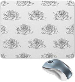 """Коврик для мышки """"Узор роз"""" - цветы, природа, розы, весна, узор"""