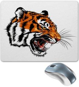 """Коврик для мышки """"Зверь"""" - тигр, животные, зверь, хищник, дикий"""