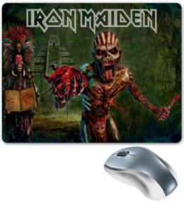 """Коврик для мышки """"Iron Maiden Band"""" - череп, heavy metal, рок музыка, рок группа, iron maiden"""
