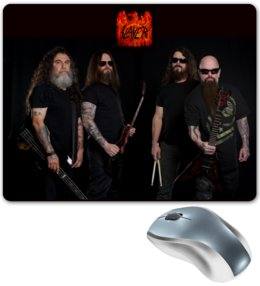 "Коврик для мышки ""Slayer 2016"" - музыка, рок, металл, slayer, thrash metal"