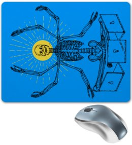 "Коврик для мышки ""Дедлайн"" - скелет, программист, дедлайн, разработчик, deadline"