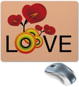 """Коврик для мышки """"Любовь"""" - любовь, цветы"""