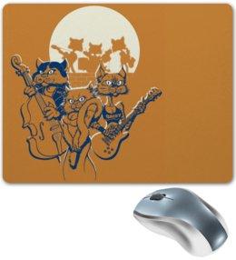 """Коврик для мышки """"Кошачий концерт"""" - музыка, группа, кошки, джаз, концерт"""
